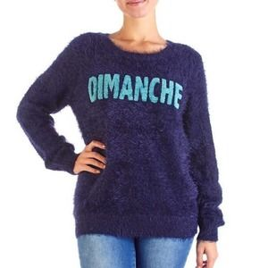 Romeo+Juliet Couture Dimanche Fuzzy Sweater